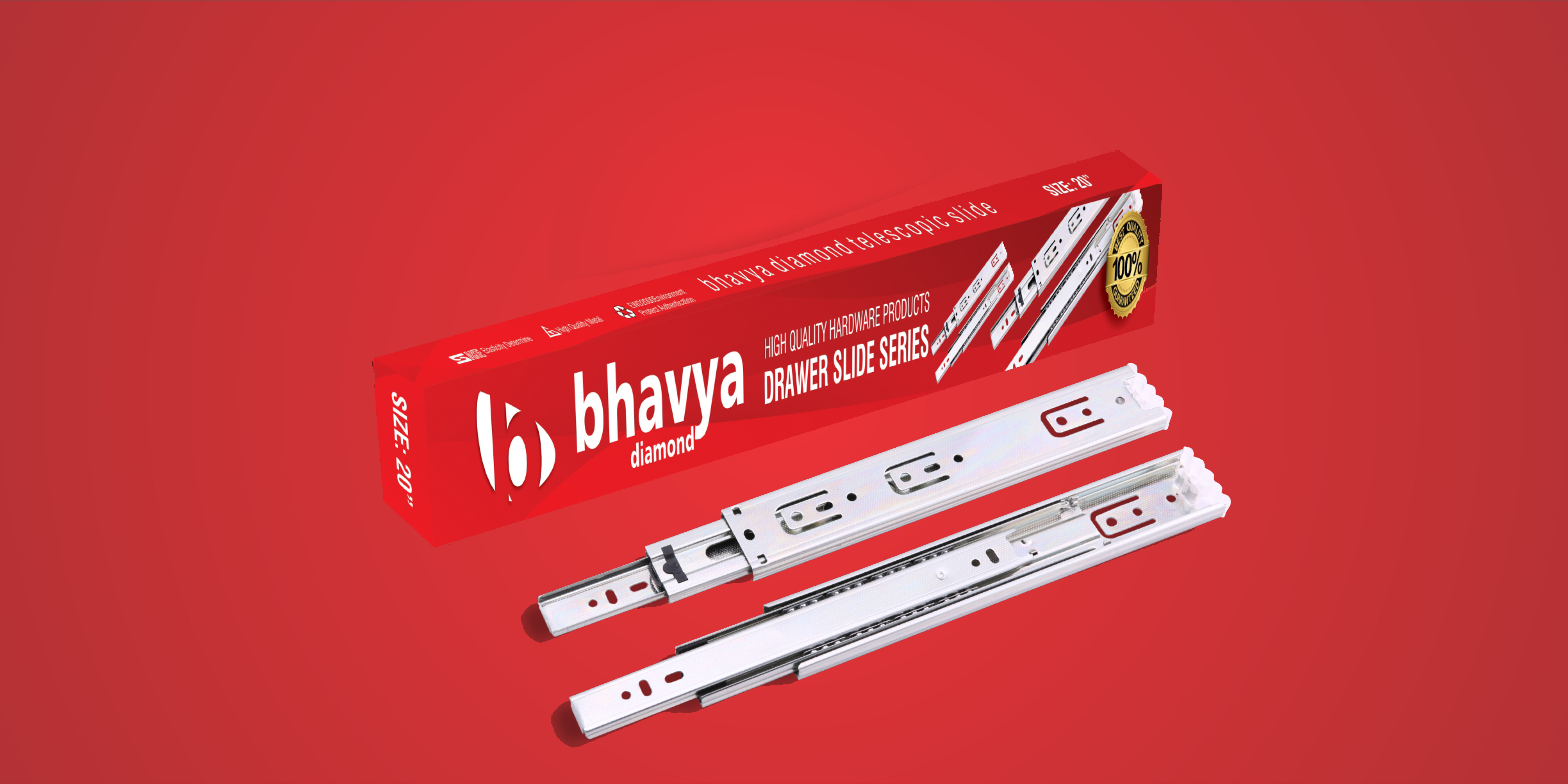 Bhavya Diamond 45mm Telescopic Drawer Slides in Ahmedabad, Gujarat, India, Drawer Slide in India, Drawer Slides in India, Drawer Slides Manufacturers, Suppliers, Wholesale, Dealers, Exporters, Traders in Ahmedabad, Gujarat, India, All type of drawer channels manufacturers in India